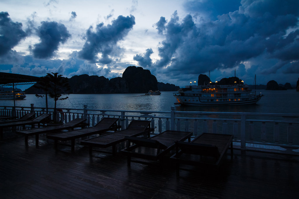 Dropping Anchor for the Night in Halong Bay