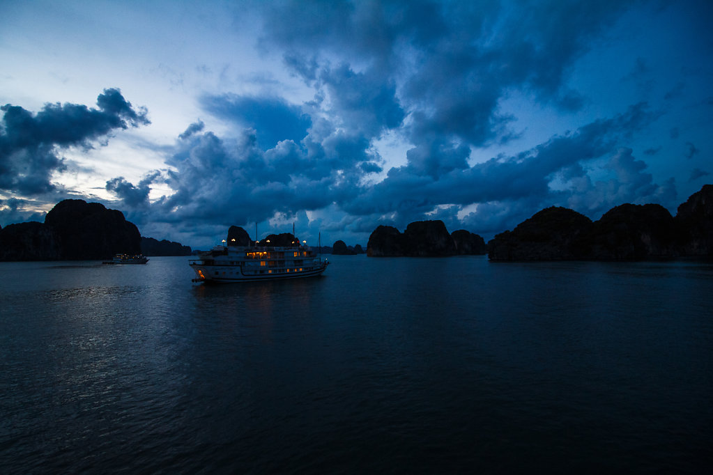 Nightfall at Halong Bay