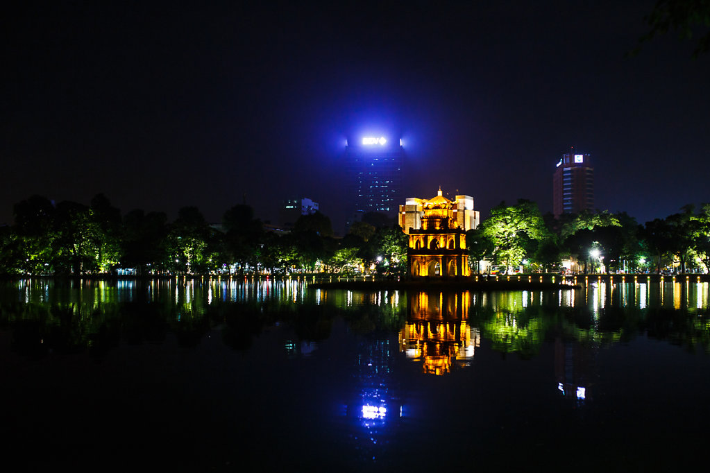 Nighttime at Hoan Kiem Lake